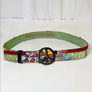 Lucky Brand Boho Patchwork Belt 28